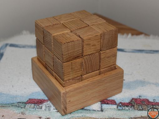Custom Made Wooden Cube Block Puzzle