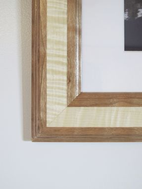 Custom Made Cherry And Curly Maple Picture Frame
