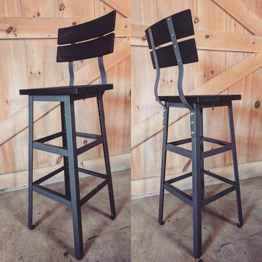 Custom Made Outdoor Industrial Bar Stool