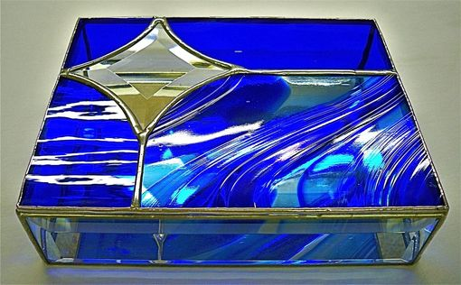Hand Made Stained Glass Jewelry Boxes Bevels Abstract