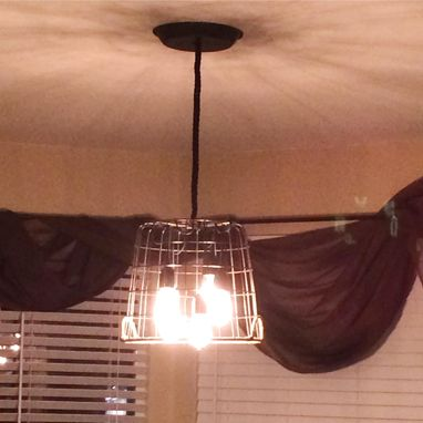 Custom Made Farm Basket Chandelier Light