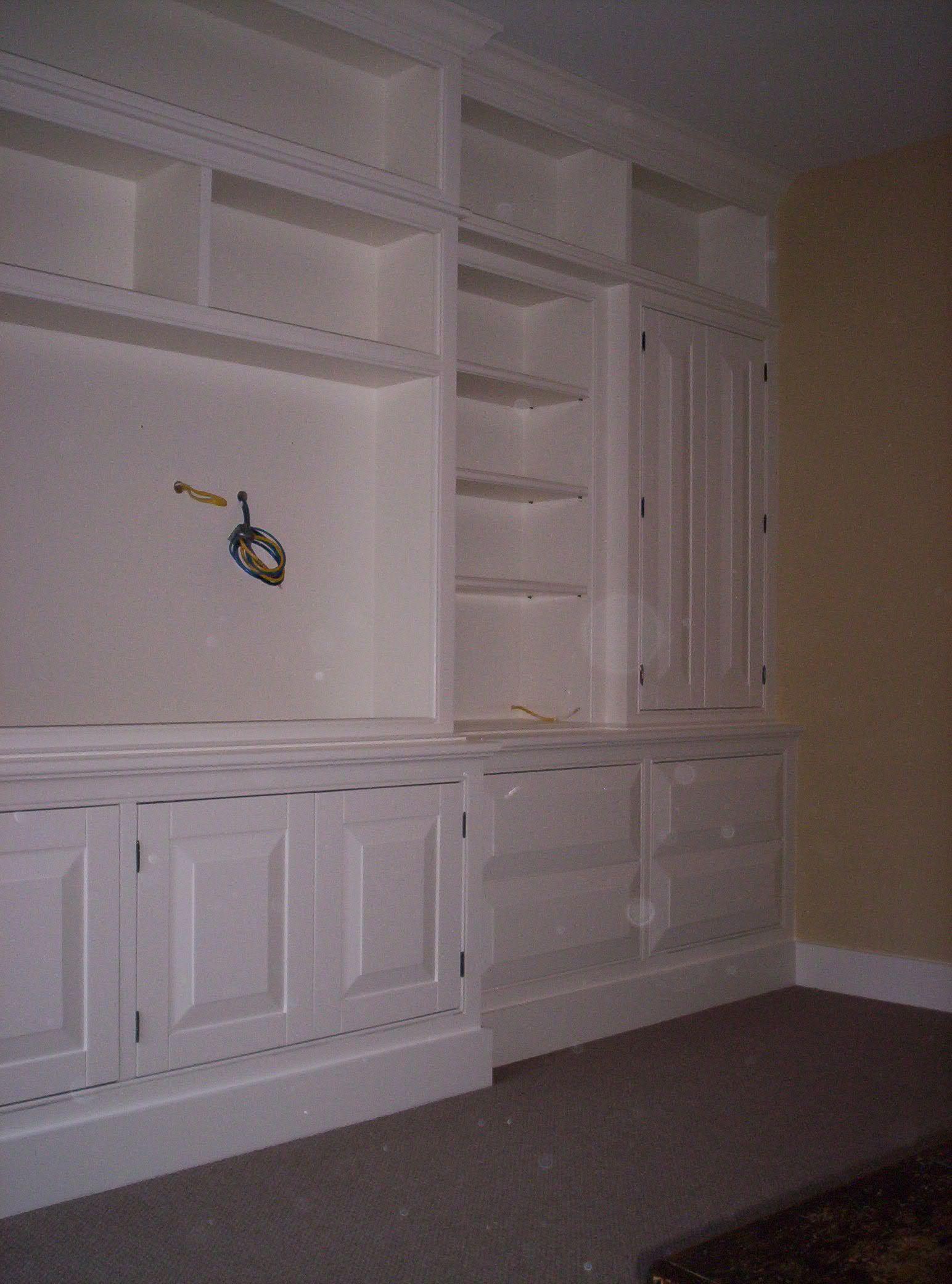 Handmade Large Built In Painted Wall Unit By Dan Fabian