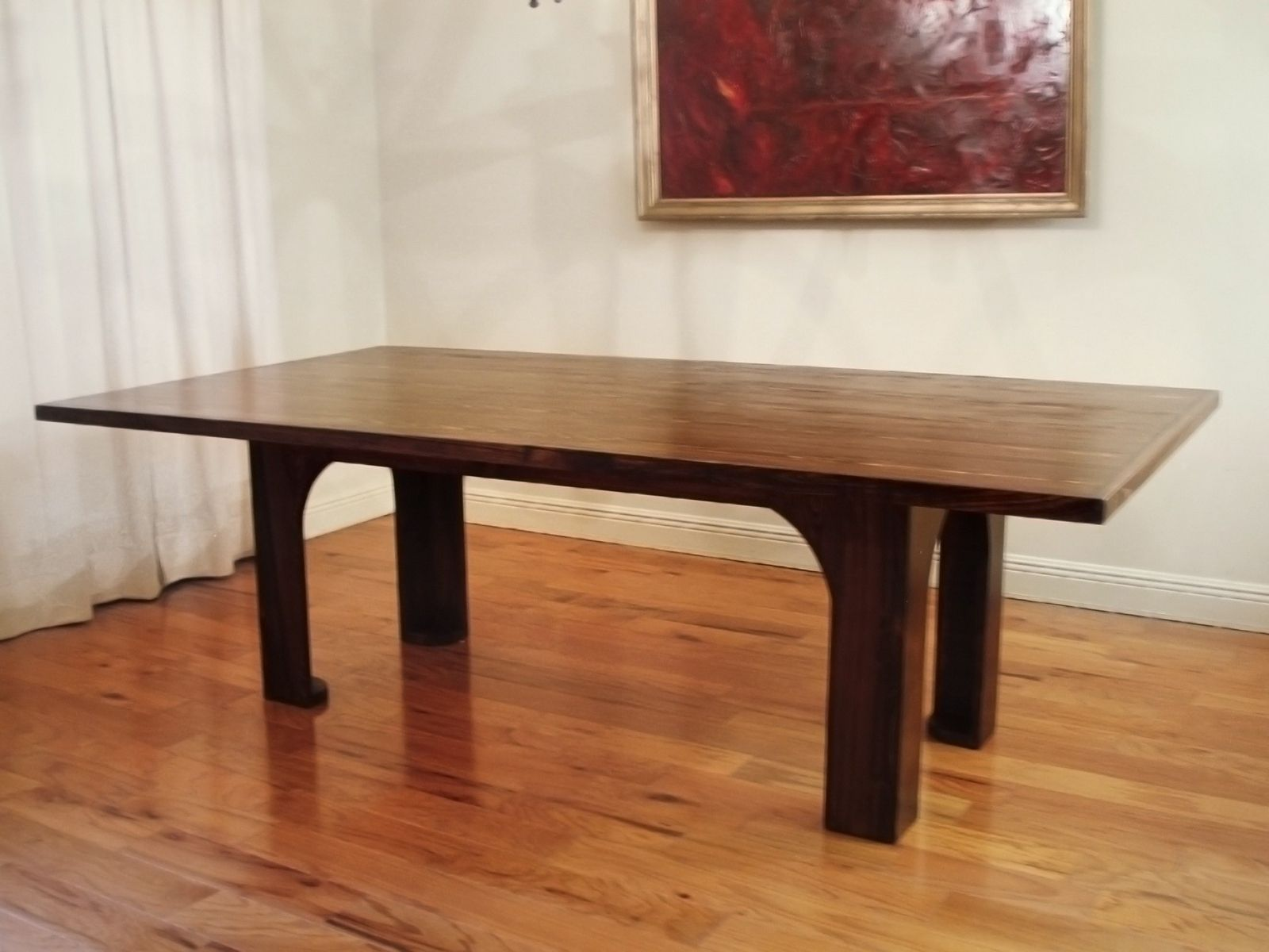 Hand crafted reclaimed wood poydras conference dining for Hardwood dining table