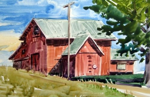 Custom Made Farm Paintings In Watercolor And Pastel