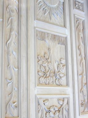 Custom Made Carved Armoire