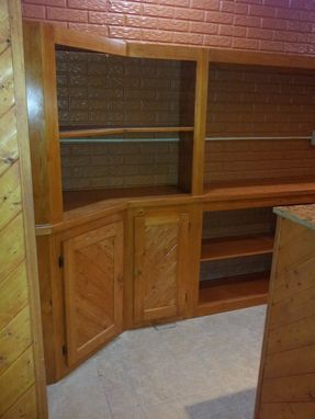 Custom Made Built In Behind Bar