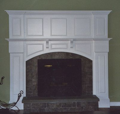 Custom Made White Fireplace Mantel