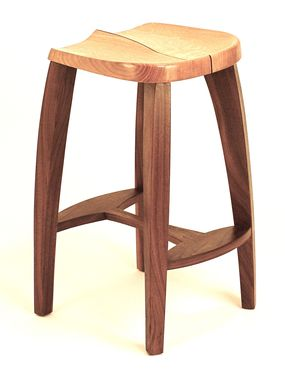 Custom Made Sabi Stool In Maple