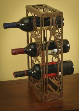 Custom Made Countertop Wine Racks-Solid Steel And Hand Crafted