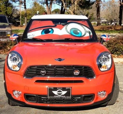 Handmade Mini Cooper Eyes Sunshade - Eyeshade by Artistic ...