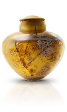 Custom Made Cremation Urns - Hand-Blown Glass - Amber Dunes