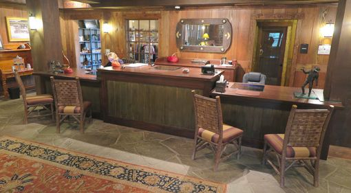 Custom Made Devil's Thumb Ranch Reception Desk