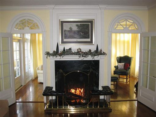 Custom Made Fireplace Mantel & Radius Window Transoms