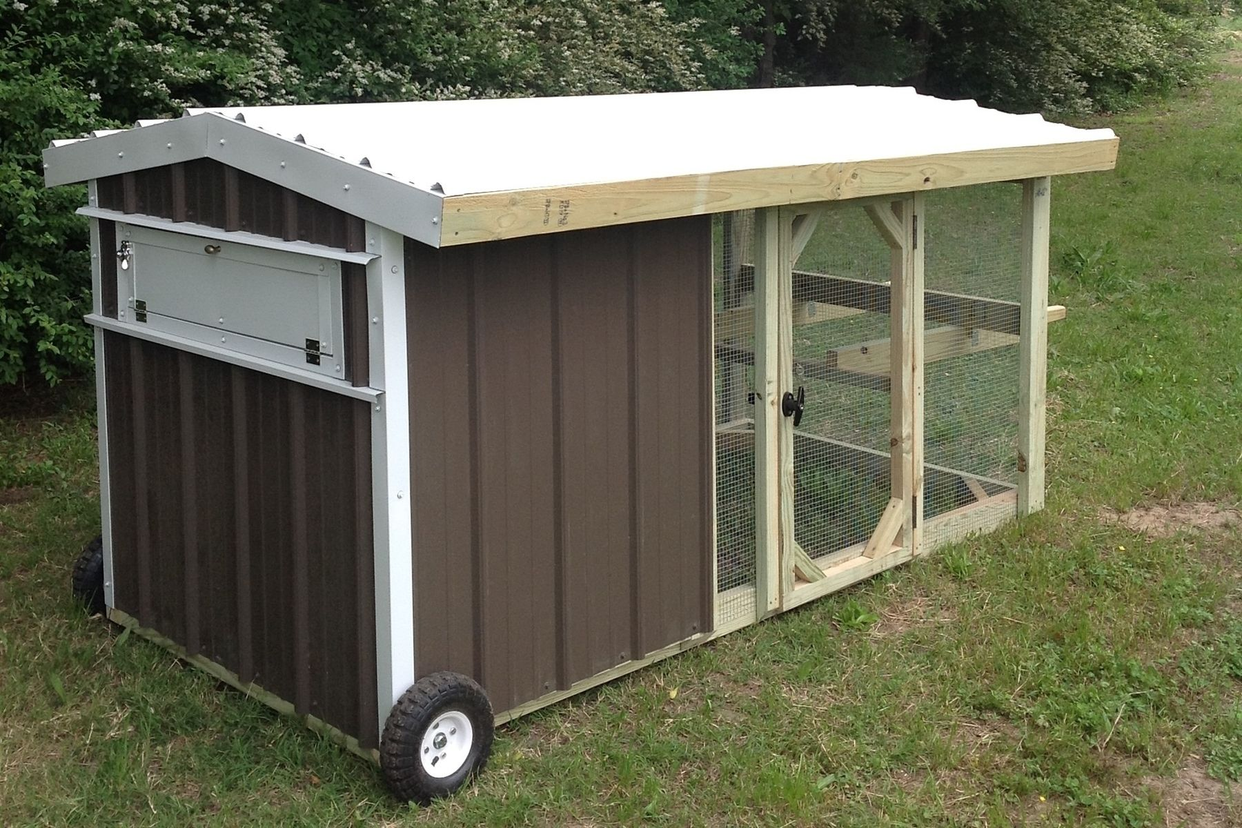 Hand Made 4x8 Rolling Chicken Coop Chicken Tractor By
