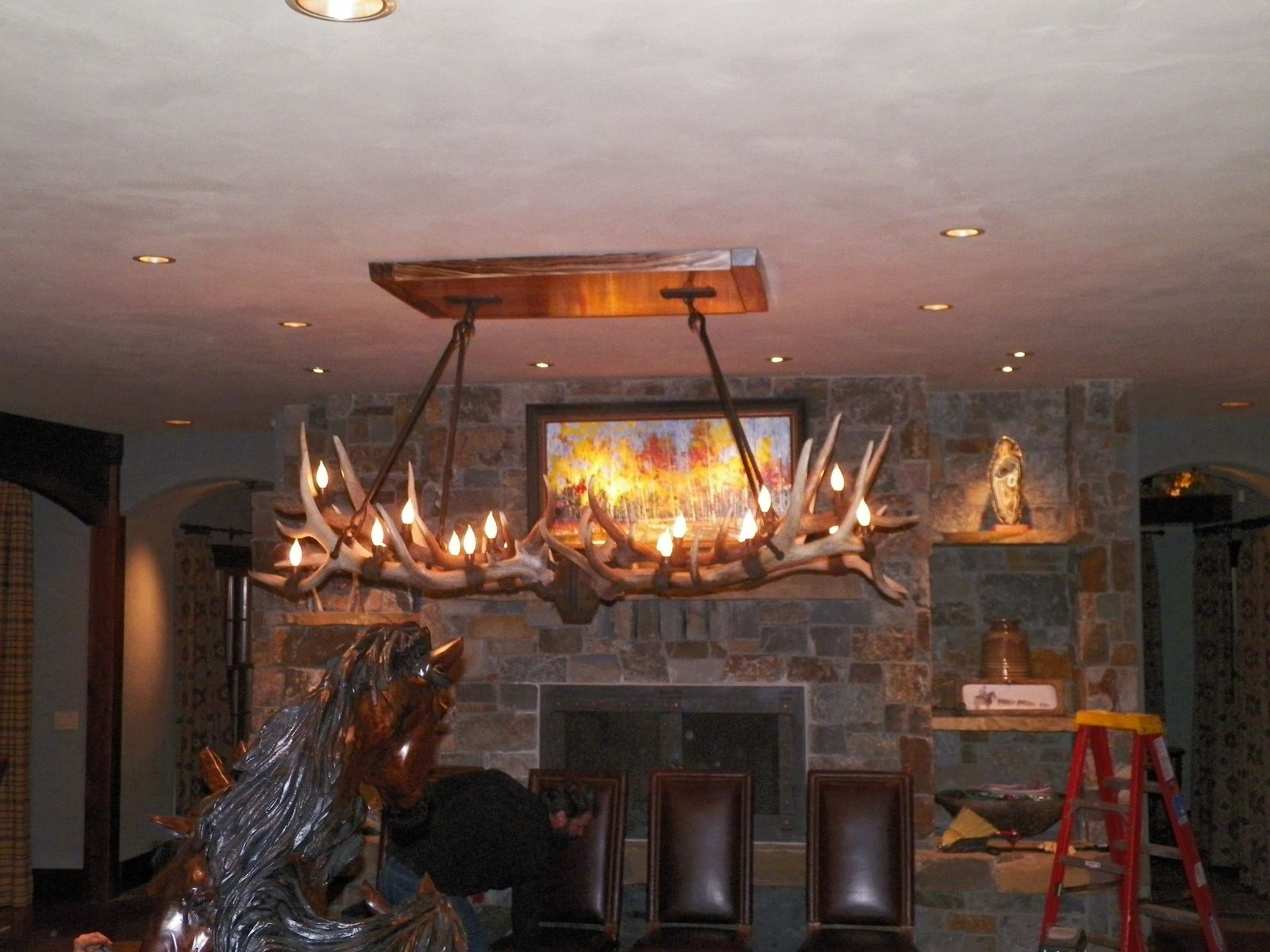 Custom shed elk antler chandelier by hellgate forge custommade custom made shed elk antler chandelier arubaitofo Image collections