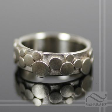 Custom Made Cobblestone Ring - 14k White Gold