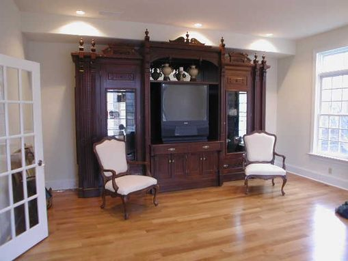 Custom Made Antique Walnut Wall Unit