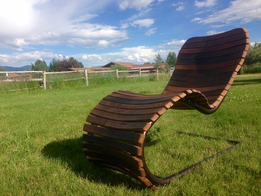 Custom Made The Stache Lounge - Wine Barrel Chaise Lounge Chair