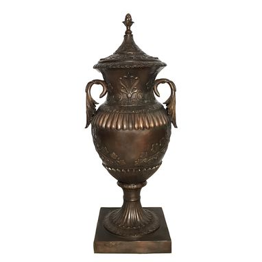Custom Made Classical-Bronze-Urn-With-Lid