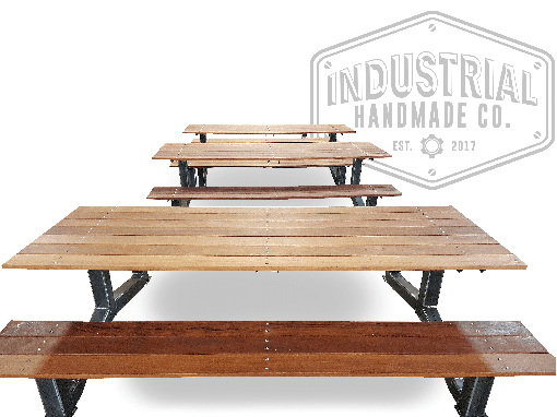 Custom Made Nashville- Large Industrial Outdoor Picnic Table