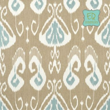 "Custom Made Custom Designer Draperies: Kravet Bansuri Ikat On Slate Gray Grey Linen 90""L X 50""W"