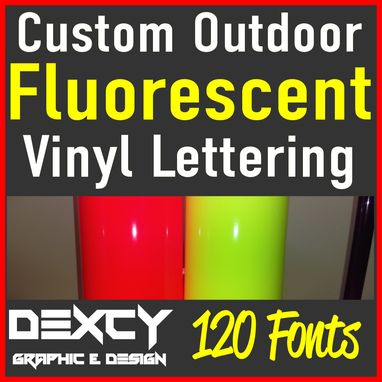 Custom Made Eye-Catching-Fluorescent-Custom-Vinyl-Lettering-Decal-Sticker-Car-Window-Sign