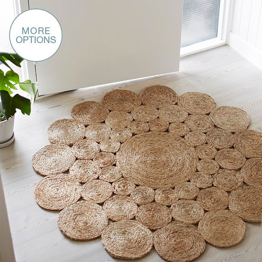 Natural Hemp Rag Round Rug