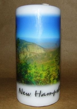 Custom Made Pillar Candle Fanconia Notch