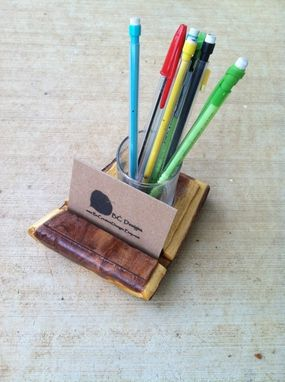 Custom Made Rustic Texas Mesquite Business Card Holder