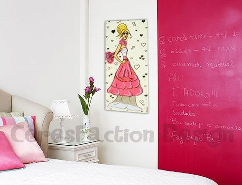 Custom Made Candy - Original Handmade Painting On Canvas 20x40cm