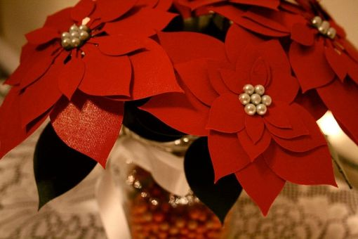 Custom Made Custom Paper Poinsettia Bouquet