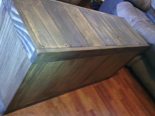 Custom Made Durable Wood Storage Bench