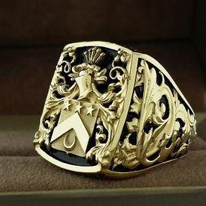 Wedding Ring With Sub Emblem