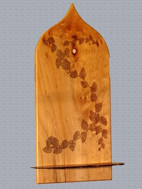 Custom Made Western Maple Wall Altar Engraved With Natural Design