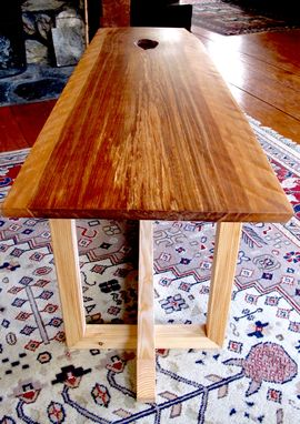 Custom Made Live Edge Eastern Modern Coffee Table