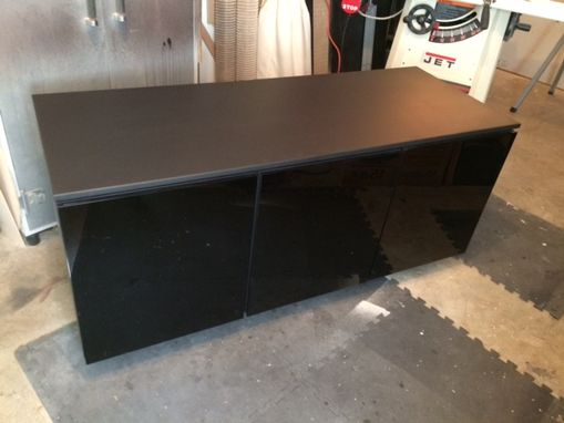 Custom Made Black Entertainment Center