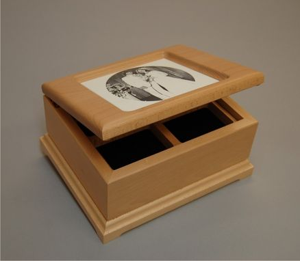 Jewelry Box Engraving gift Box personalized wood magnetic Closure handmade Massively Artruster