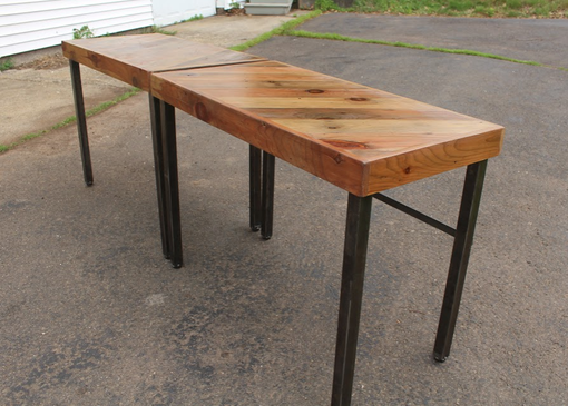 Custom Made Reclaimed Wood And Steel Dining Tables