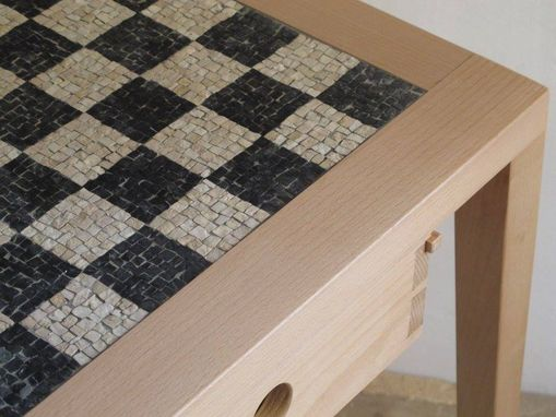 Custom Made Italian Mosaic Chess Board Table