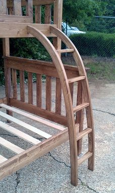 Custom Made Curved Bunk Bed Ladder