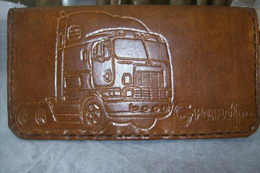 Custom Made Custom Leather Check Book Cover
