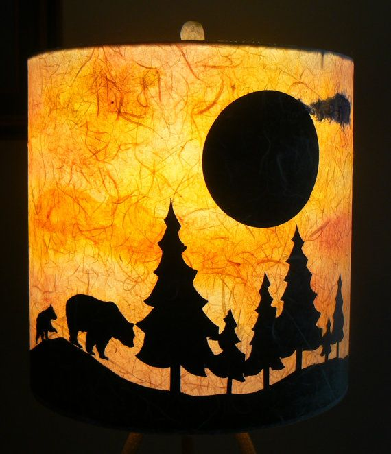 Custom Bears At Sunset Paper Lamp Shade By Lite Shadow