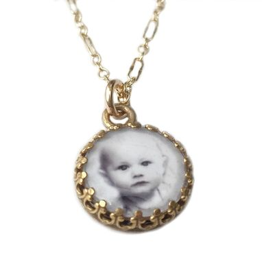 Custom Made Personalized Photo Charm Necklace