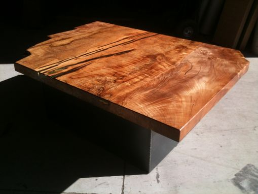 Custom Made Gorgeous Figured Maple Coffee Table