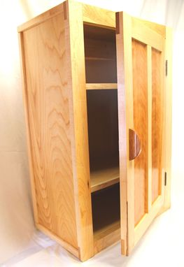 Custom Made Birch Wall Cabinet
