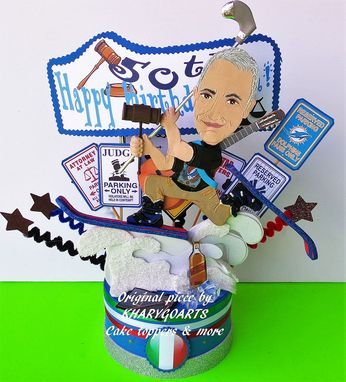 Custom Made Men Look Alike Birthday Cake Topper