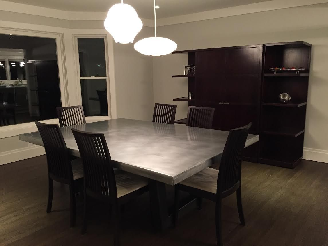Custom Made Modern Zinc Dining Table - Buy A Custom Modern Zinc Dining Table, Made To Order From