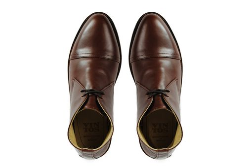 Custom Made Baudelaire Brown Chukka Cap Goodyear Welted Boots Toe Boots