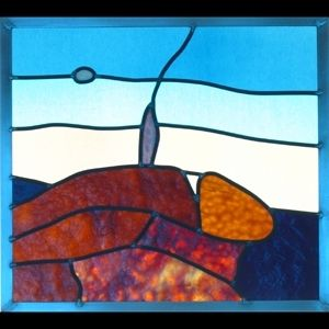 Custom Made Mountain Top Stained Glass Window
