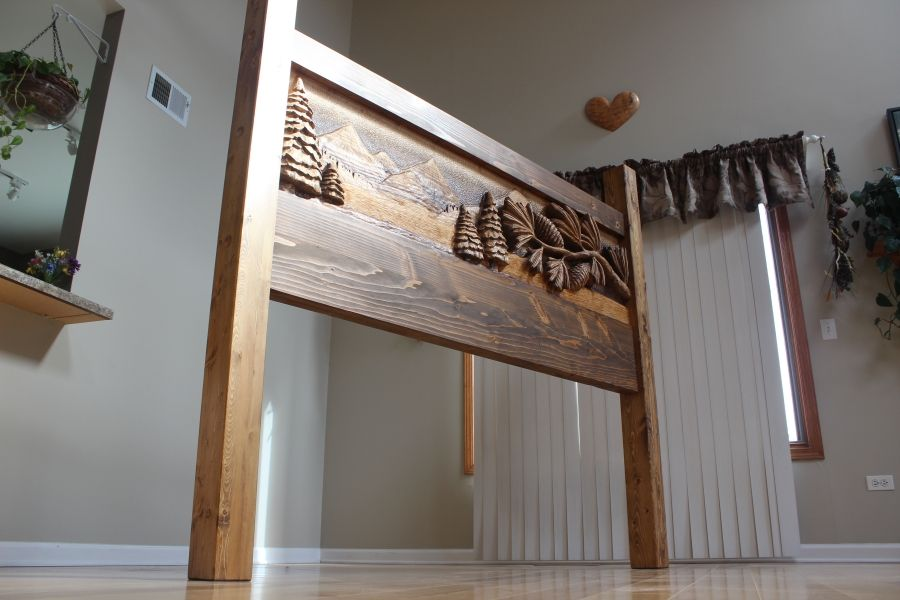 Custom Made Custom Hand Carved Headboards | Handmade Beds | King Beds |  Queen Beds